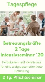 Tagespflege Betreuung 2 Tg 2020